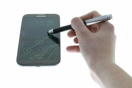 Luxe aluminium stylus pen met balpen - Zwart