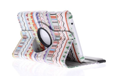 Samsung Galaxy Tab 3 7.0 hoesje - 360° draaibare aztec tablethoes