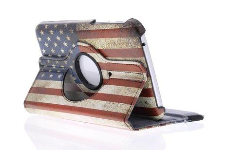 Samsung Galaxy Tab 3 7.0 hoesje - USA vlag design 360°
