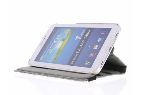Samsung Galaxy Tab 3 7.0 hoesje - Frans design 360° draaibare