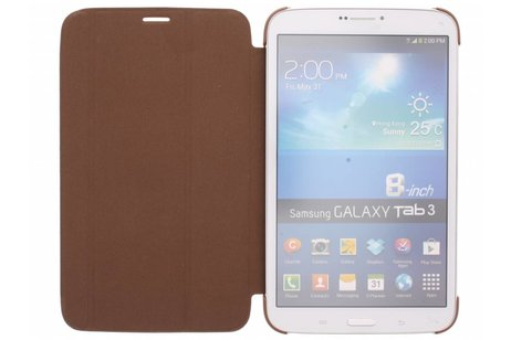 Samsung Galaxy Tab 3 8.0 hoesje - Bruine Book Cover voor