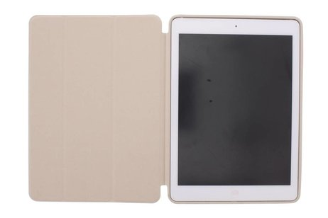 iPad Air hoesje - Beige luxe Book Cover