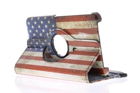 Samsung Galaxy Tab 4 7.0 hoesje - 360° draaibare USA vlag