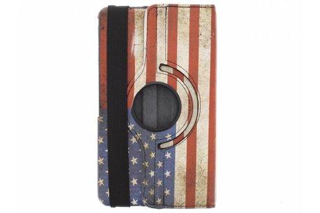 Samsung Galaxy Tab 4 8.0 hoesje - 360° draaibare USA vlag