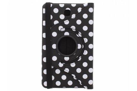 Samsung Galaxy Tab 4 7.0 hoesje - Zwarte 360° draaibare polka
