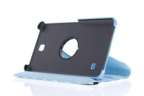 Samsung Galaxy Tab 4 7.0 hoesje - Lichtblauwe 360° draaibare polka