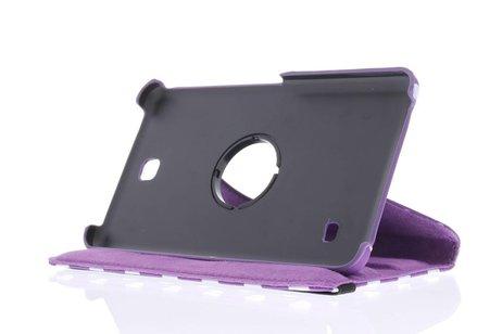 Samsung Galaxy Tab 4 7.0 hoesje - Paarse 360° draaibare polka