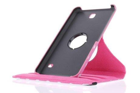Samsung Galaxy Tab 4 7.0 hoesje - Roze 360° draaibare polka