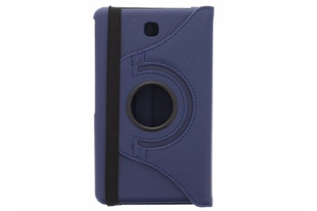 Samsung Galaxy Tab 4 7.0 hoesje - Donkerblauwe 360° draaibare tablethoes