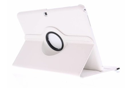 Samsung Galaxy Tab 4 10.1 hoesje - Witte 360° draaibare tablethoes