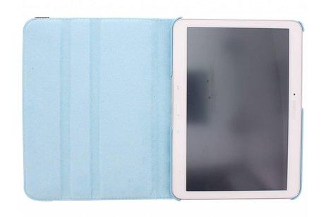 Samsung Galaxy Tab 4 10.1 hoesje - Lichtblauwe 360° draaibare polka