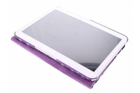 Samsung Galaxy Tab 4 10.1 hoesje - Paarse 360° draaibare polka