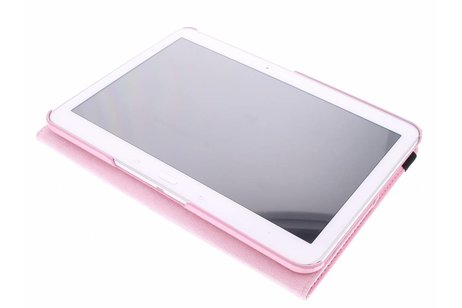 Samsung Galaxy Tab 4 10.1 hoesje - Roze 360° draaibare tablethoes