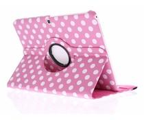 360° draaibare polka dot tablethoes Galaxy Tab 4 10.1