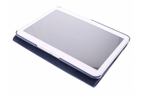 Samsung Galaxy Tab 4 10.1 hoesje - Donkerblauwe 360° draaibare tablethoes