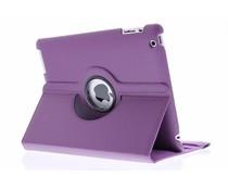 Paars 360° draaibare hoes iPad 2 / 3 / 4