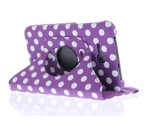 360° draaibare polka dot tablethoes Galaxy Tab 3 Lite 7.0