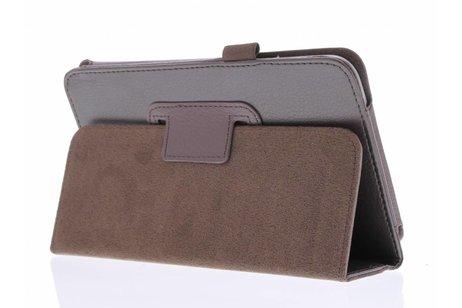 Samsung Galaxy Tab 3 7.0 hoesje - Bruine effen tablethoes voor