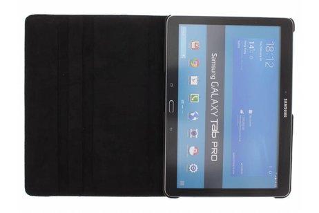 Samsung Galaxy Tab Pro 10.1 hoesje - Zwarte 360° draaibare polka