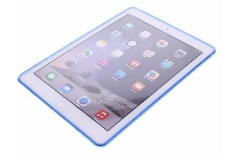 iPad Air 2 hoesje - Blauwe S-line TPU tablethoes