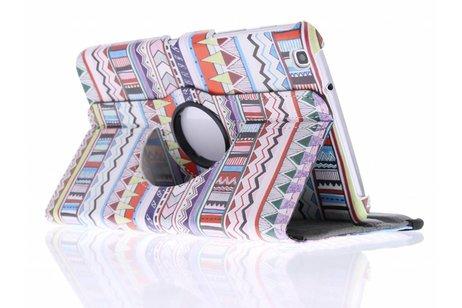 Samsung Galaxy Tab 3 8.0 hoesje - 360° draaibare aztec design