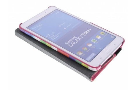 Samsung Galaxy Tab 4 7.0 hoesje - 360° draaibare strepen design