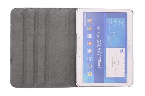 Samsung Galaxy Tab 4 10.1 hoesje - 360° draaibare rozen design