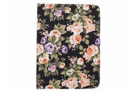 Samsung Galaxy Tab 4 10.1 hoesje - 360° draaibare bloemen design