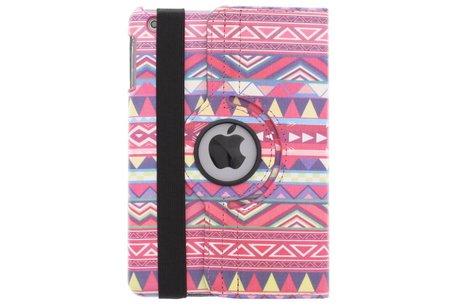 360º draaibare aztec design tablethoes voor de iPad Mini / 2 / 3