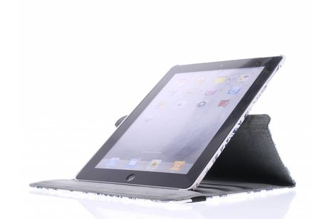 360° draaibare olifanten design tablethoes voor de iPad 2 / 3 / 4