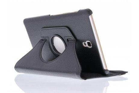 Samsung Galaxy Tab S 8.4 hoesje - Zwarte 360° draaibare tablethoes