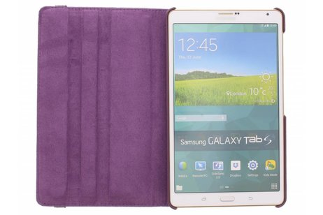 Samsung Galaxy Tab S 8.4 hoesje - Paarse 360° draaibare tablethoes