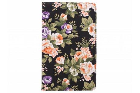 Samsung Galaxy Tab S 8.4 hoesje - 360º draaibare bloemen design