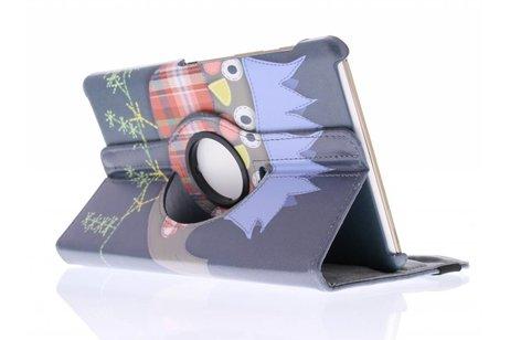 Samsung Galaxy Tab S 8.4 hoesje - 360º draaibare vogel design
