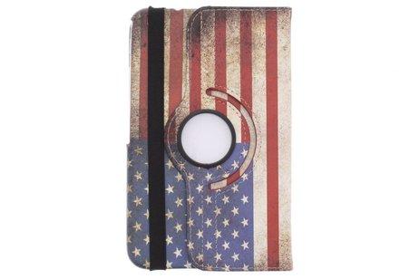 Samsung Galaxy Tab 3 8.0 hoesje - 360° draaibare Amerikaanse vlag