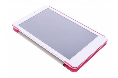 Acer Iconia Tab 8 W1-810 hoesje - Fuchsia Book Cover voor