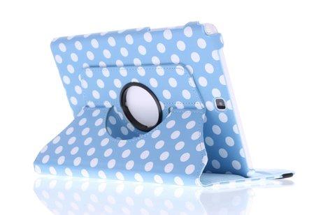 Samsung Galaxy Tab A 9.7 hoesje - Lichtblauwe 360º draaibare polka