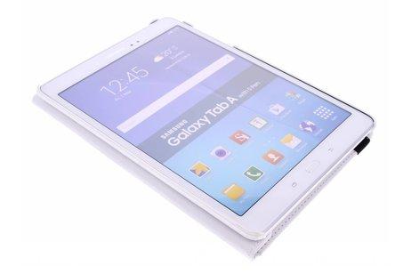 Samsung Galaxy Tab A 9.7 hoesje - Witte 360º draaibare krokodil