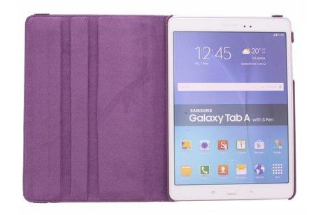 Samsung Galaxy Tab A 9.7 hoesje - Paarse 360º draaibare krokodil