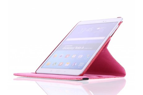 Samsung Galaxy Tab A 9.7 hoesje - Fuchsia 360º draaibare krokodil