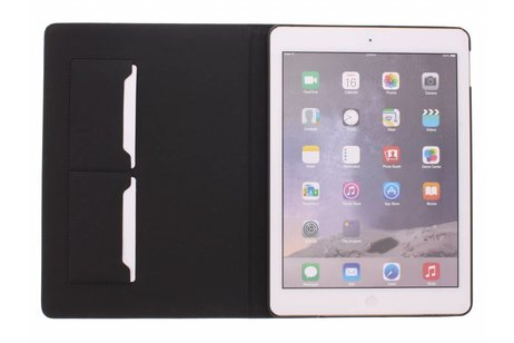 iPad Air 2 hoesje - Bruine luxe leder tablethoes