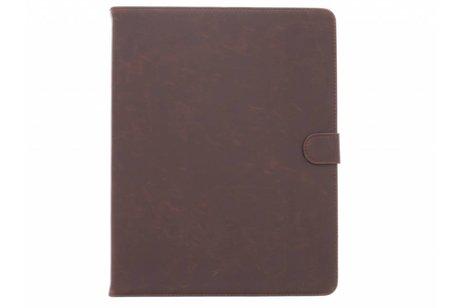 Bruine luxe leder tablethoes voor de iPad 2 / 3 / 4