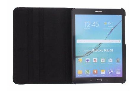 Samsung Galaxy Tab S2 9.7 hoesje - Zwarte 360° draaibare tablethoes