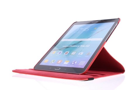 Samsung Galaxy Tab S2 9.7 hoesje - Rode 360° draaibare tablethoes