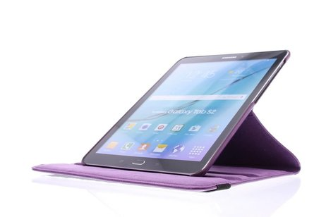 Samsung Galaxy Tab S2 9.7 hoesje - Paarse 360° draaibare tablethoes
