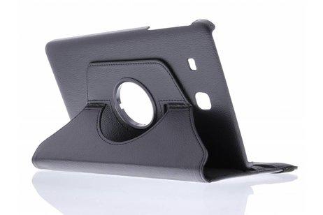 Samsung Galaxy Tab E 9.6 hoesje - Zwarte 360° draaibare tablethoes