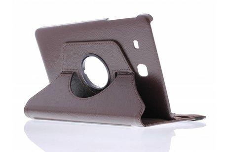 Samsung Galaxy Tab E 9.6 hoesje - Bruine 360° draaibare tablethoes