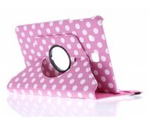 360° draaibare polka dot tablethoes Galaxy Tab E 9.6