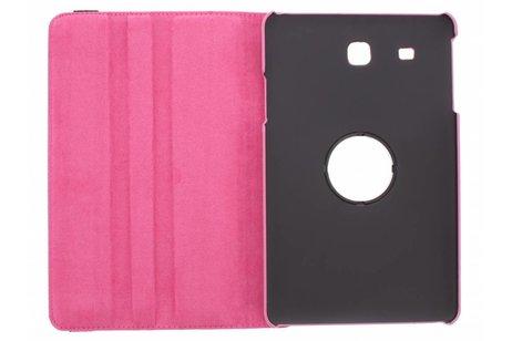 Samsung Galaxy Tab E 9.6 hoesje - Roze 360° draaibare polka