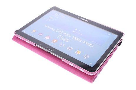 Samsung Galaxy Tab Pro 10.1 hoesje - Roze 360° draaibare polka